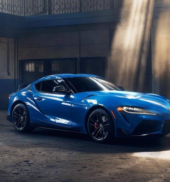 2021 Blue Toyota Supra GR A91 Edition